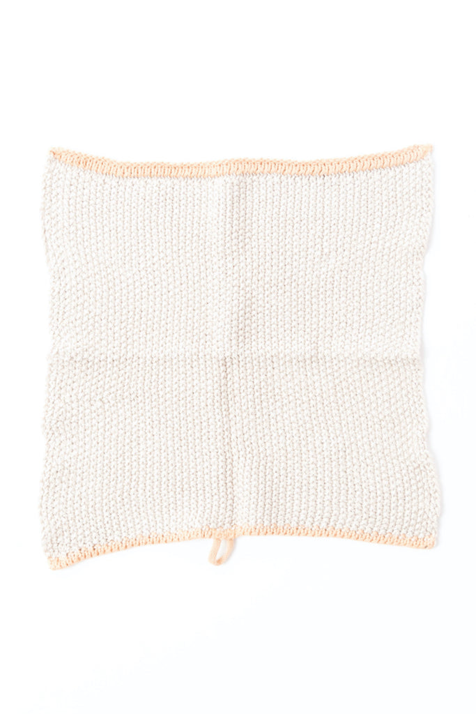 White knit dish cloth | ROOLEE