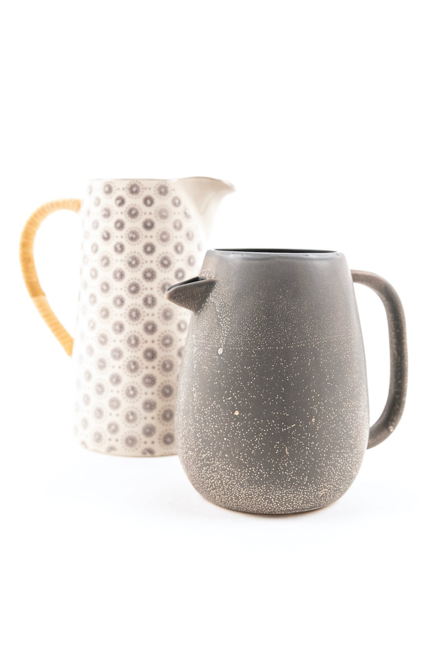 Reston Stoneware Pitcher with Reactive Glaze