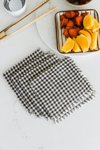 Farmhouse Chic Gingham Napkins | ROOLEE