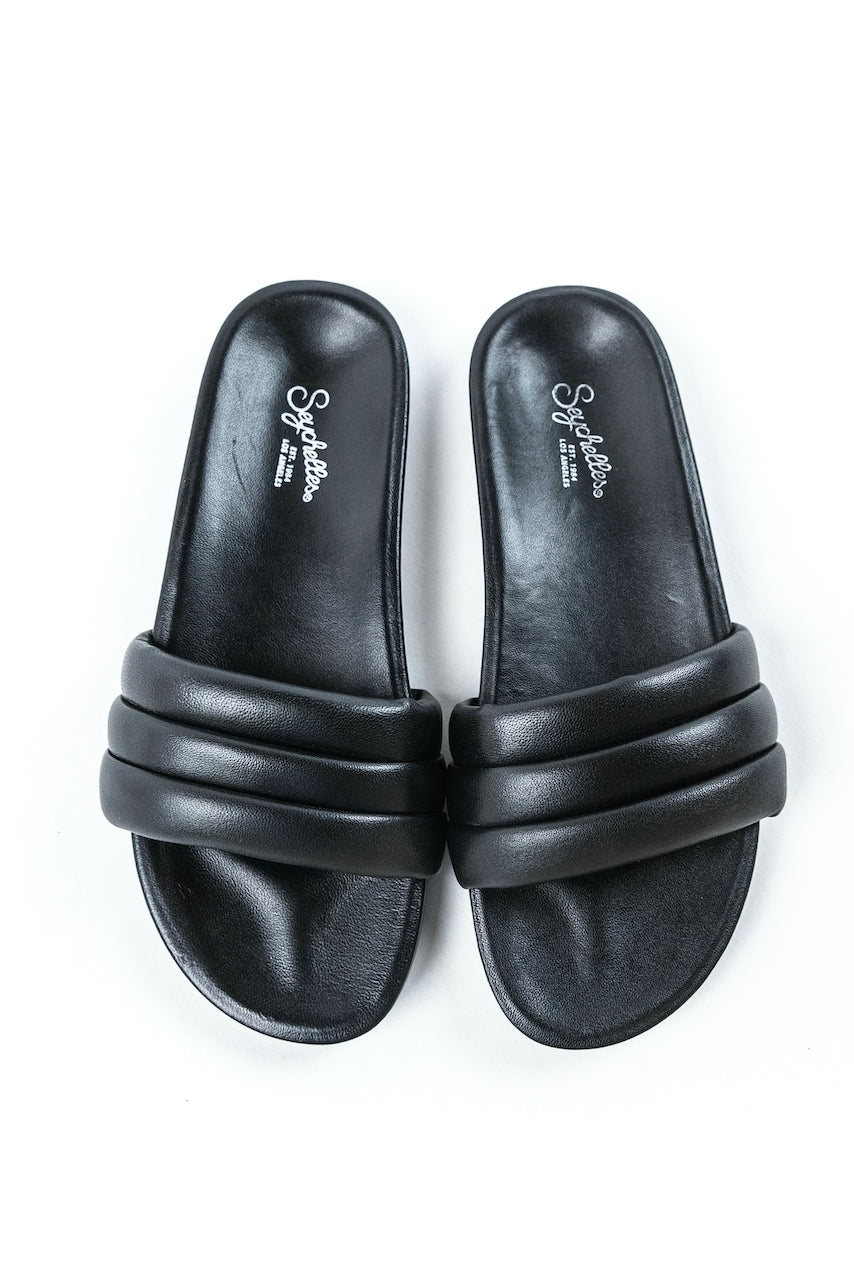 Leather Slide Sandals | ROOLEE