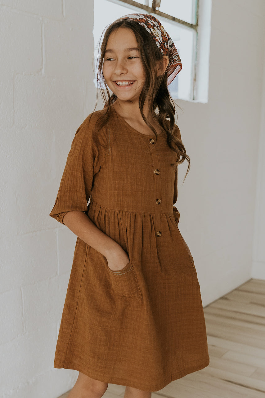 Button Kids Dress | ROOLEE