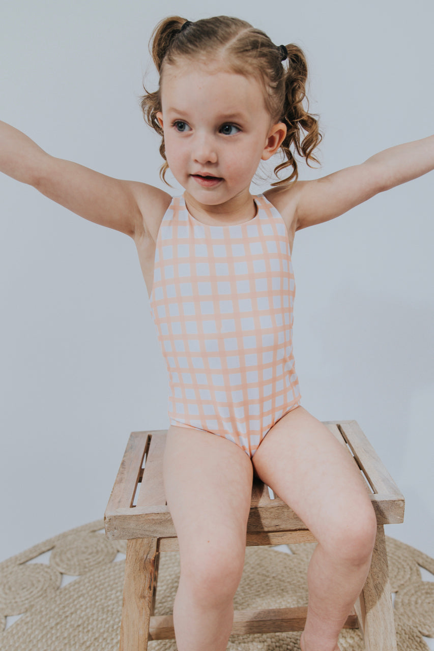 Plaid Kids Modest Swimsuit | ROOLEE