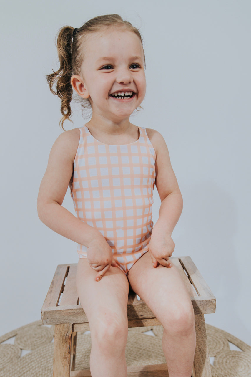 Kids Plaid One Piece | ROOLEE