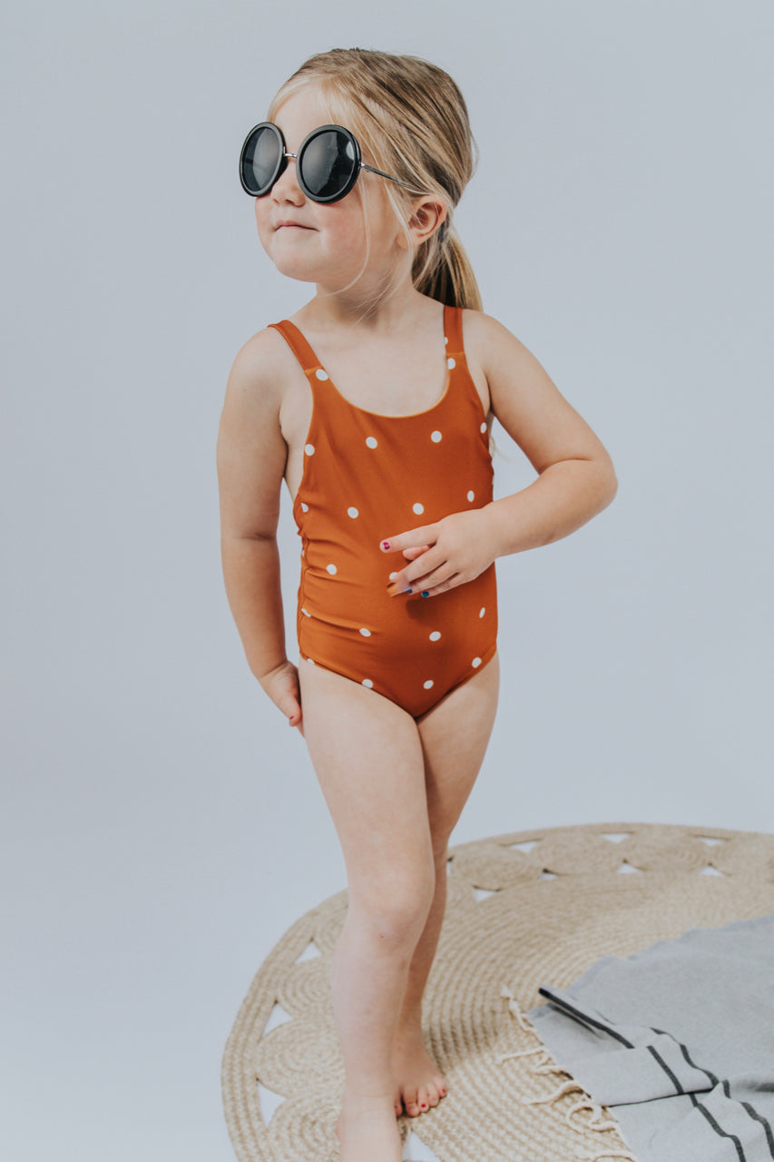 Girls Dot Swimsuit | ROOLEE