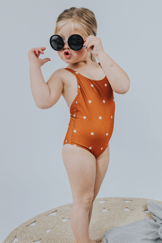 Polka Dot Kids Swimsuit | ROOLEE