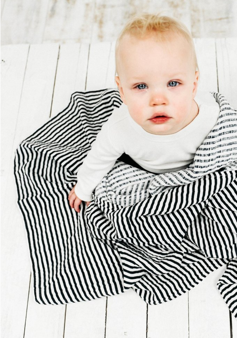 Black + White Stripe Swaddle