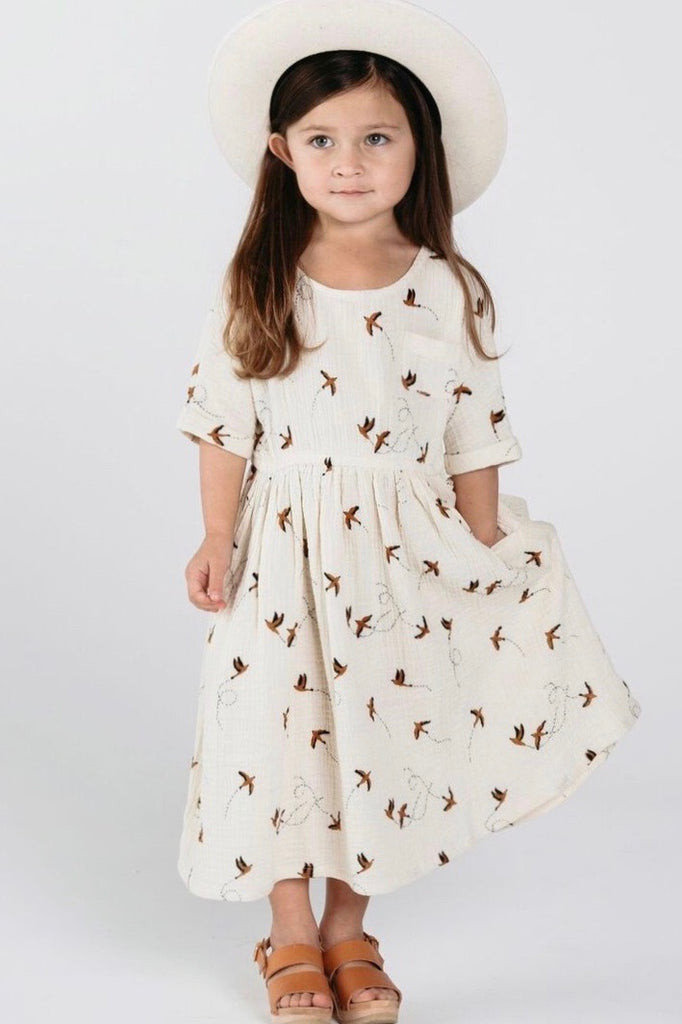 Cute Short Sleeve Dress Outfit For Little Girls | ROOLEE Kids