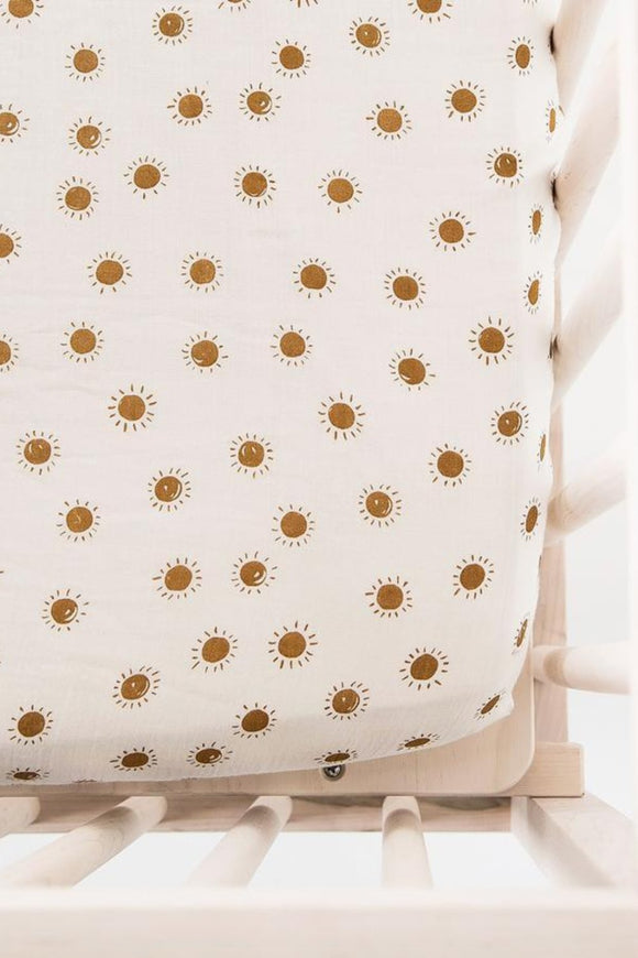 Organic Crib Sheet in Sunrise | ROOLEE Kids