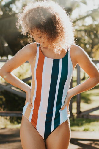 Multi Stripe One Piece | ROOLEE