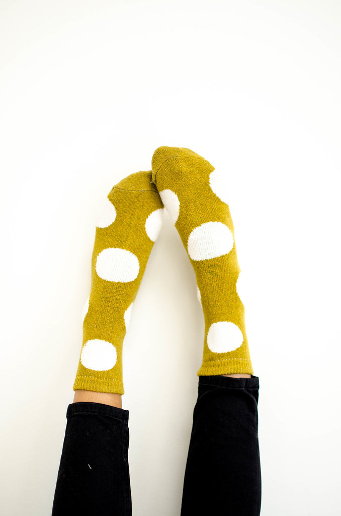 polka-dot-socks-in-mustard
