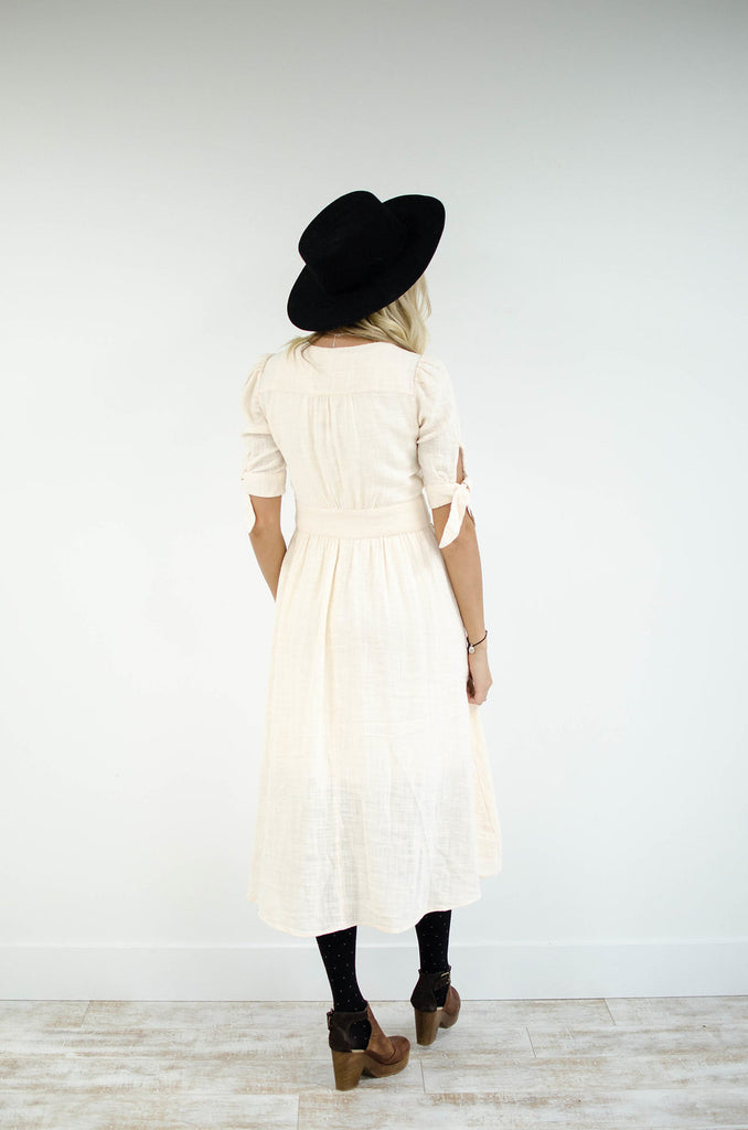Free People Love of My Life Midi Dress in Ivory