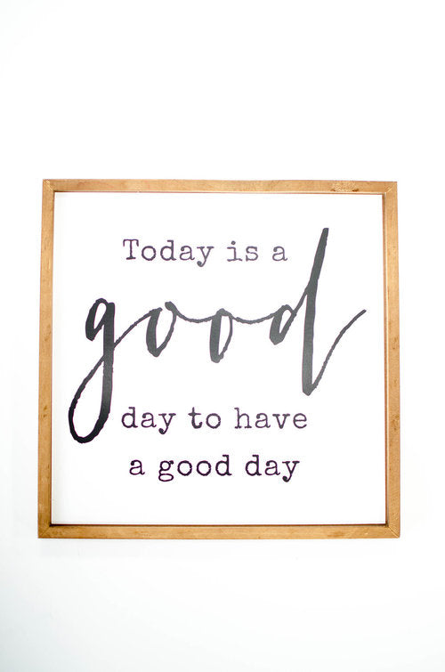 'A Good Day' Wall Plaque