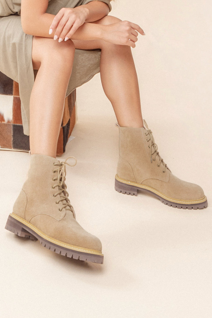 Lace up military boot | ROOLEE