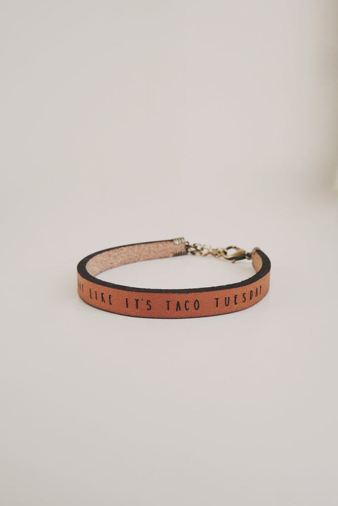 every-day-is-taco-tuesday-leather-bracelet