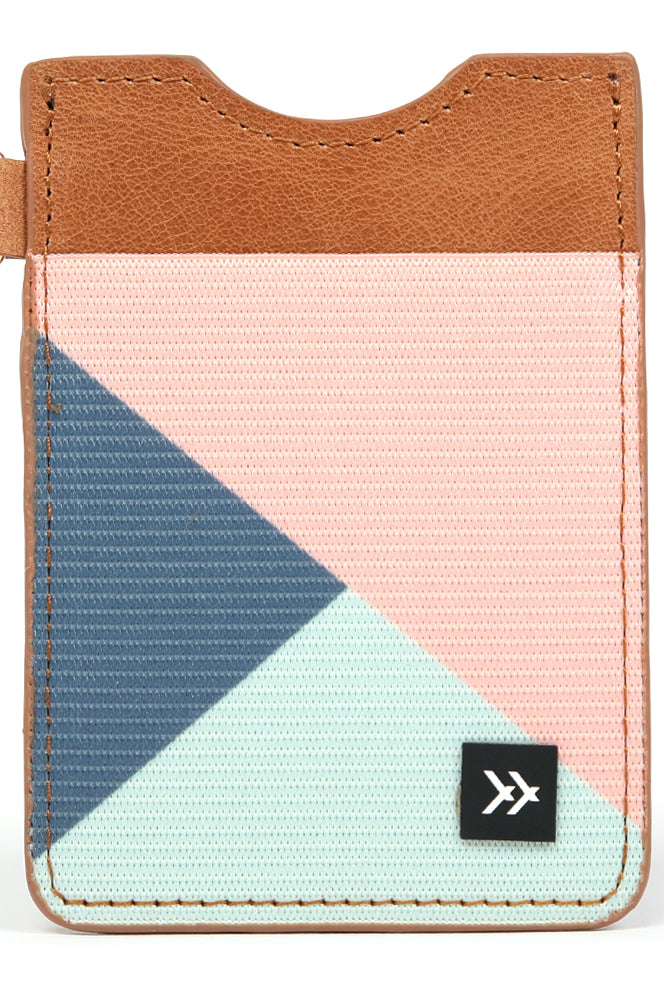 Colorblock printed leather wallet | ROOLEE