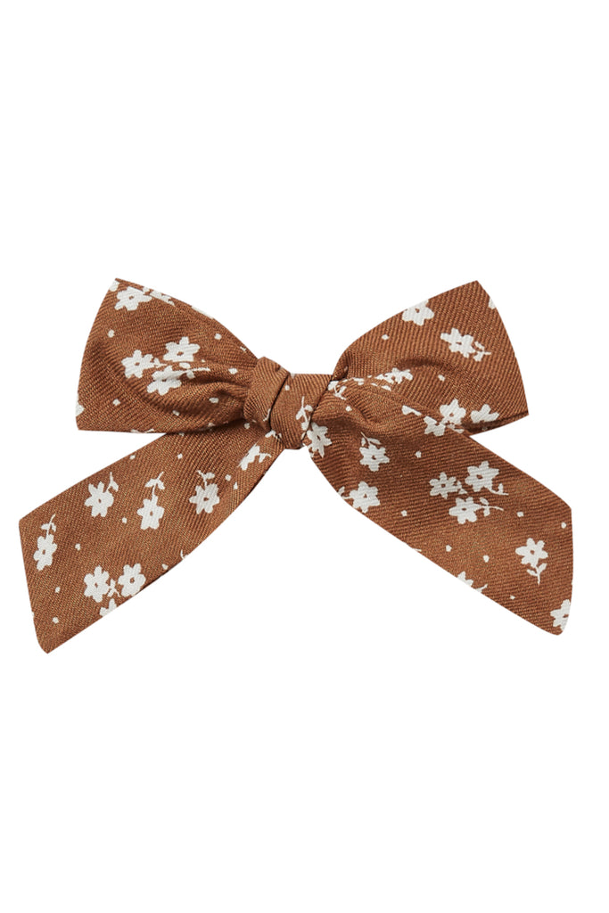 Girls brown flower bow | ROOLEE