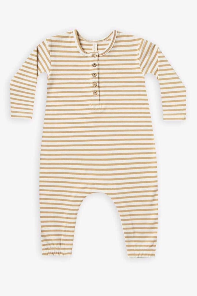 Quincy Mae Stripe Long Sleeve Jumpsuit