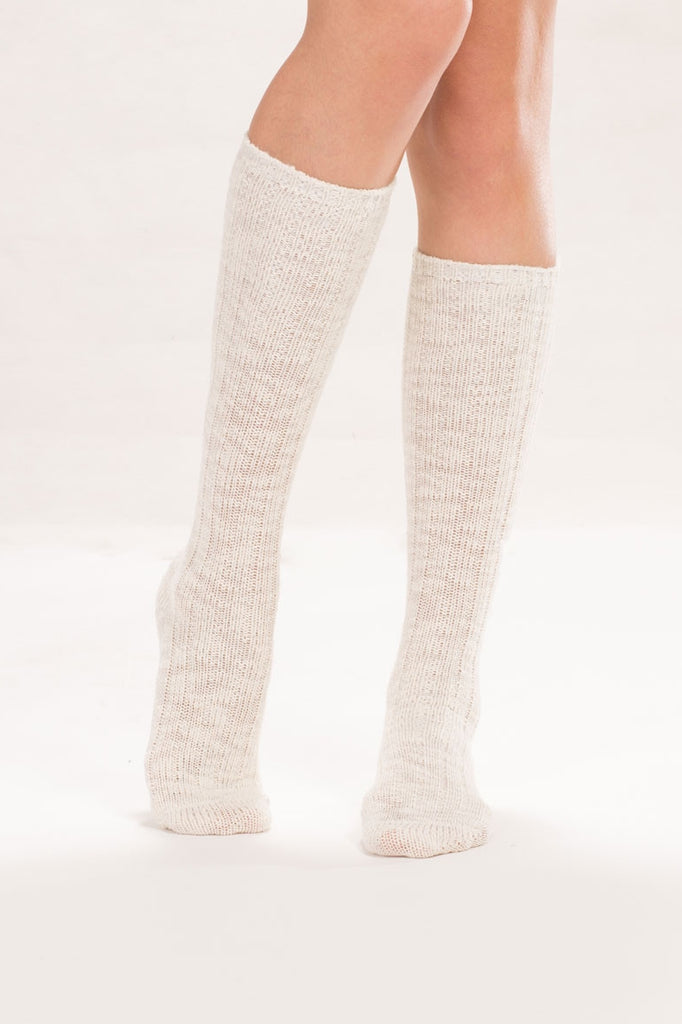 Heather Ivory Knee High Socks