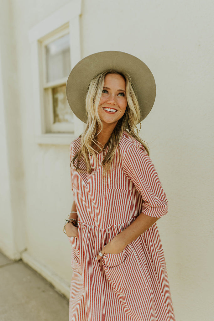 Stripe Cotton Dress | ROOLEE
