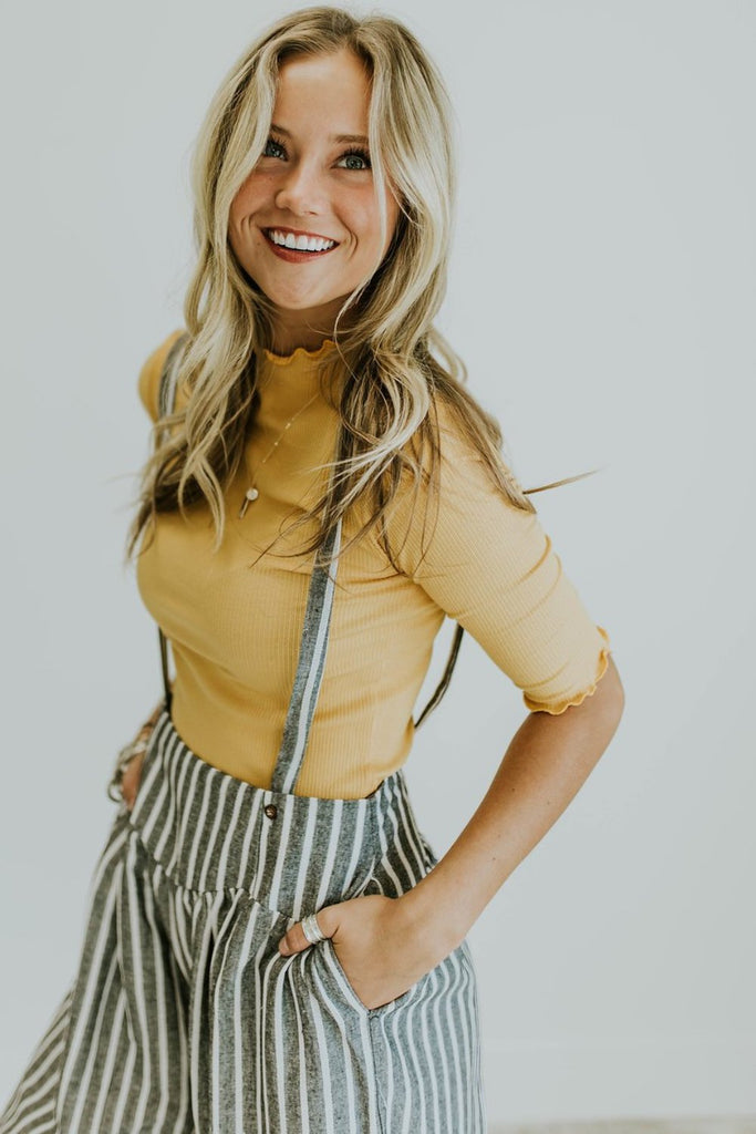 Central Park Top in Mustard | ROOLEE