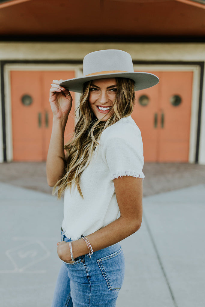 White Fray Top | ROOLEE