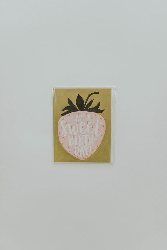 Hand-Designed Strawberry Birthday Card | ROOLEE