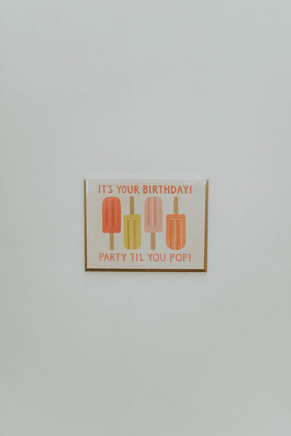 Popsicle Print Birthday Card | ROOLEE