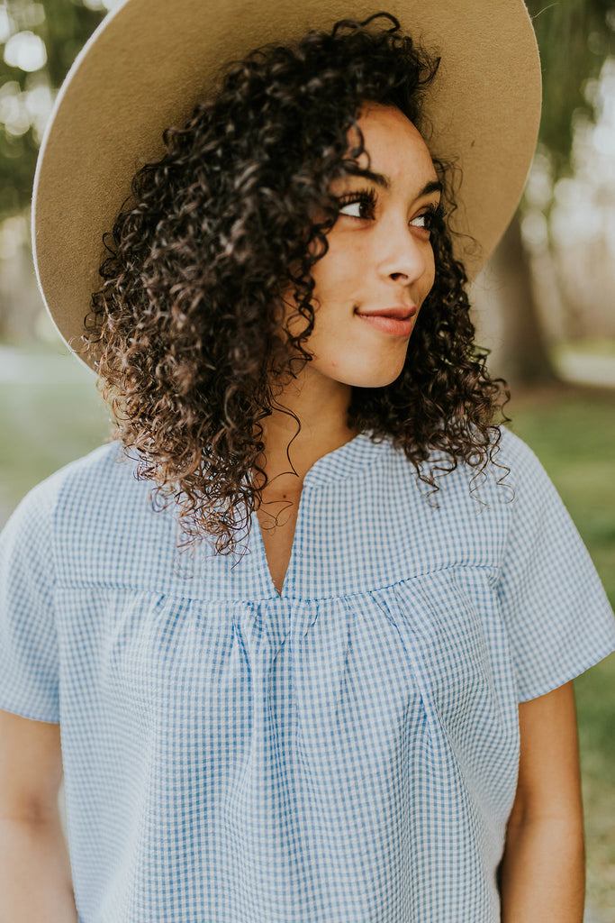 Markworth Gingham Blouse | ROOLEE