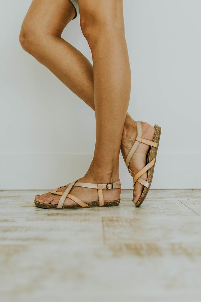 Criss-Cross Strap Sandals | ROOLEE