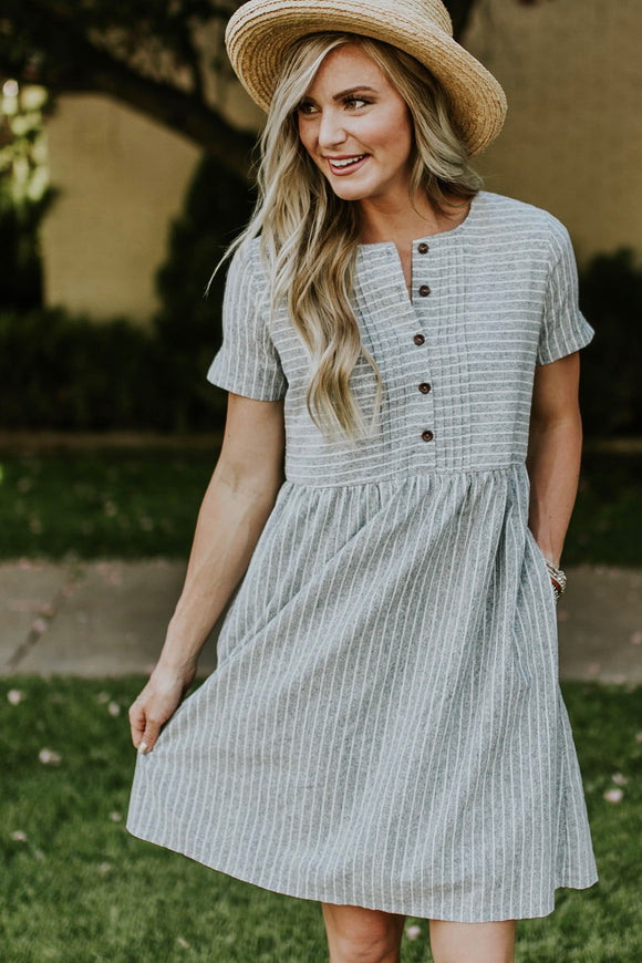 Bellingham Button Dress | ROOLEE