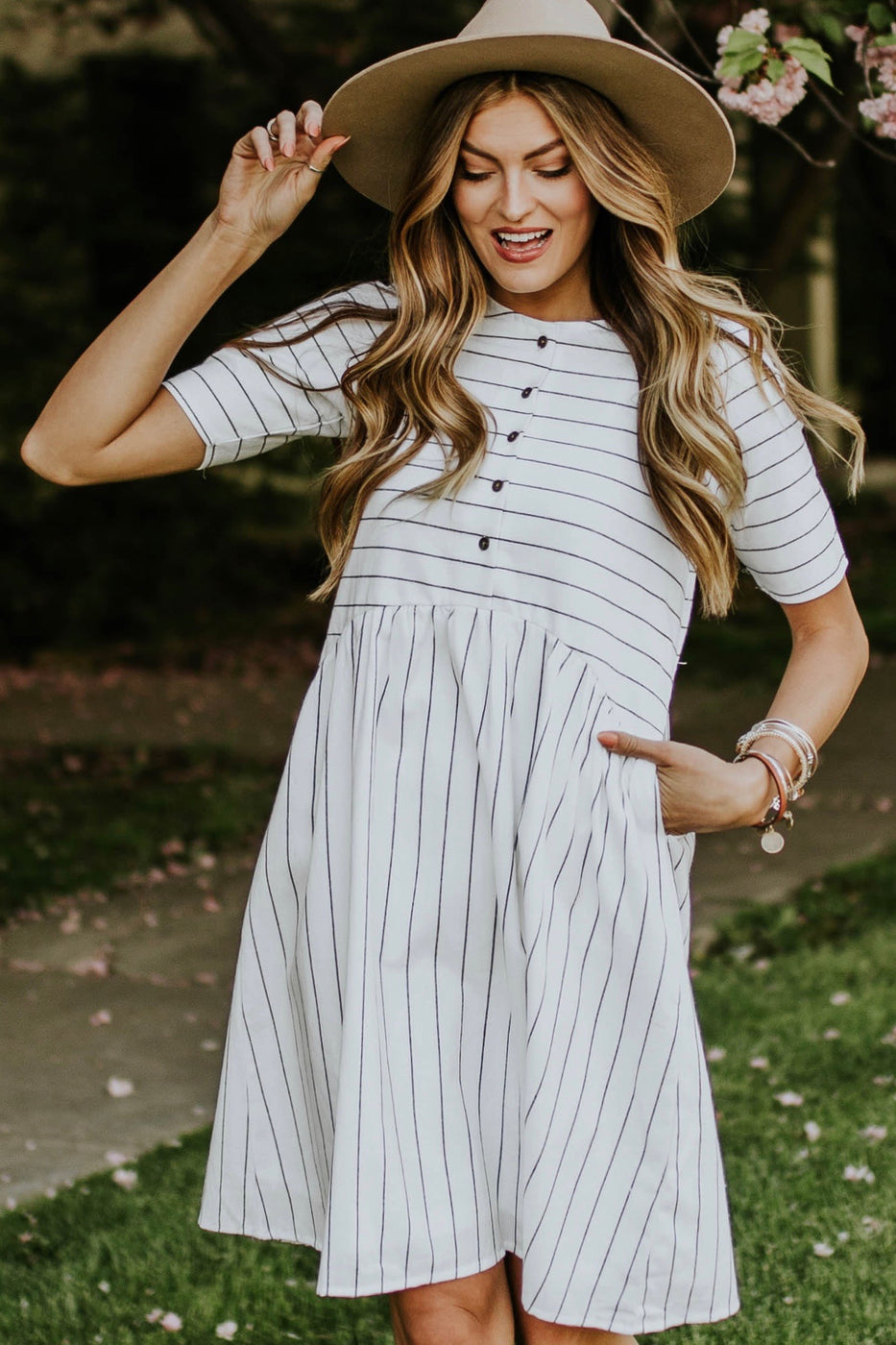 McCall Striped Dress | ROOLEE