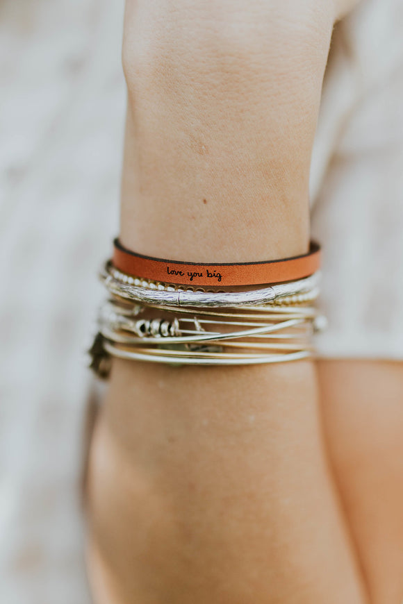 Love You Big Leather Bracelet | ROOLEE