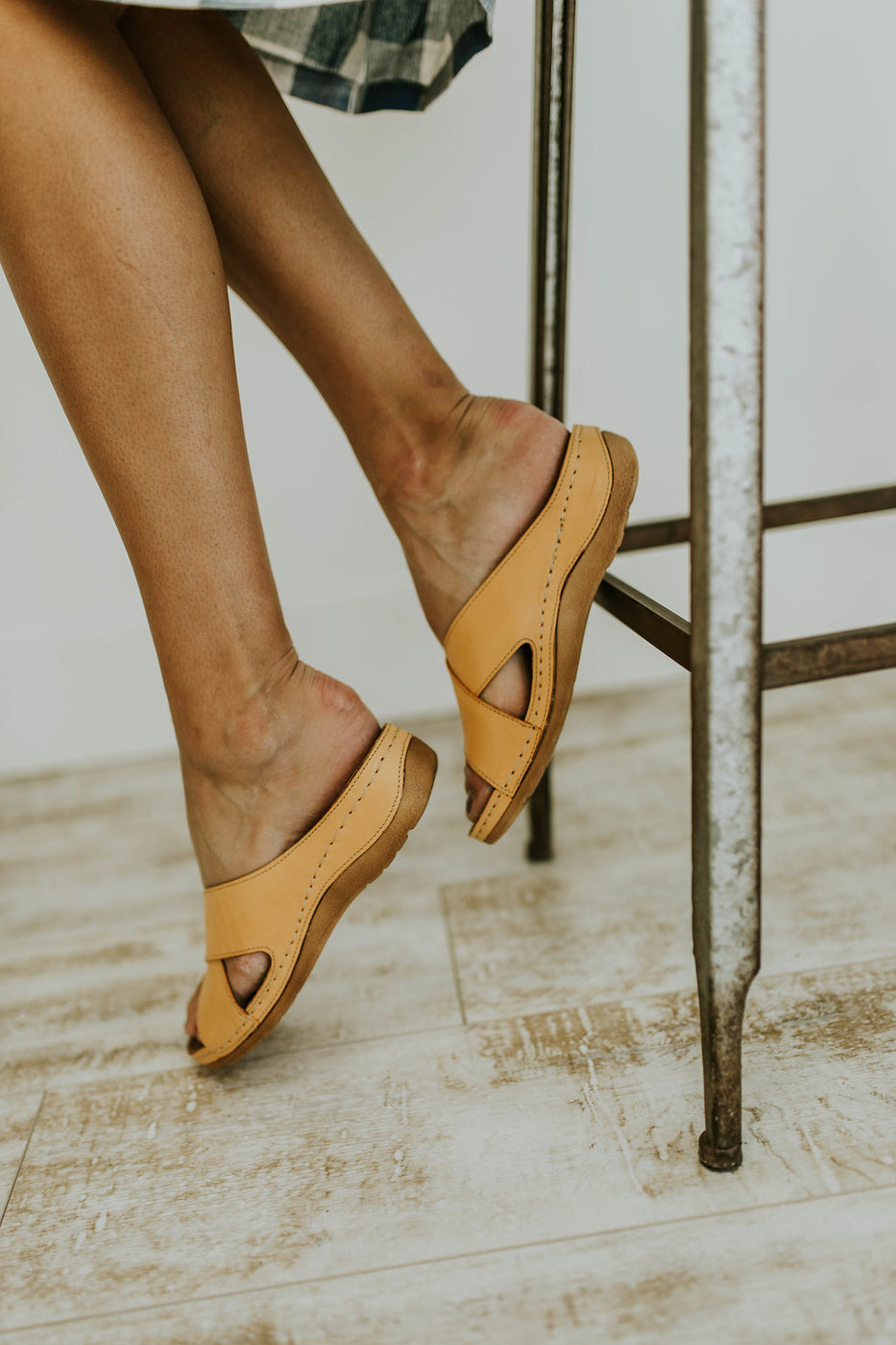 Bright Yellow Strap Sandals | ROOLEE
