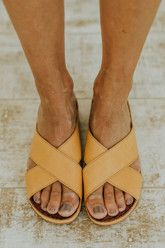 Sunshine Yellow Summer Sandals | ROOLEE