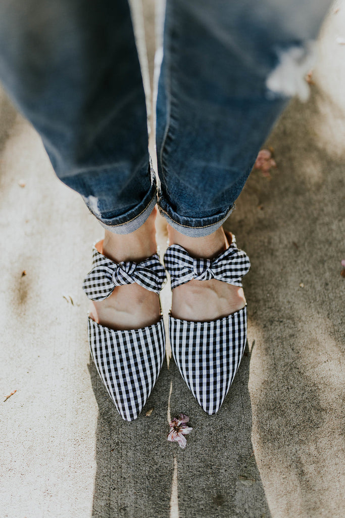 Black + White Plaid Shoes | ROOLEE