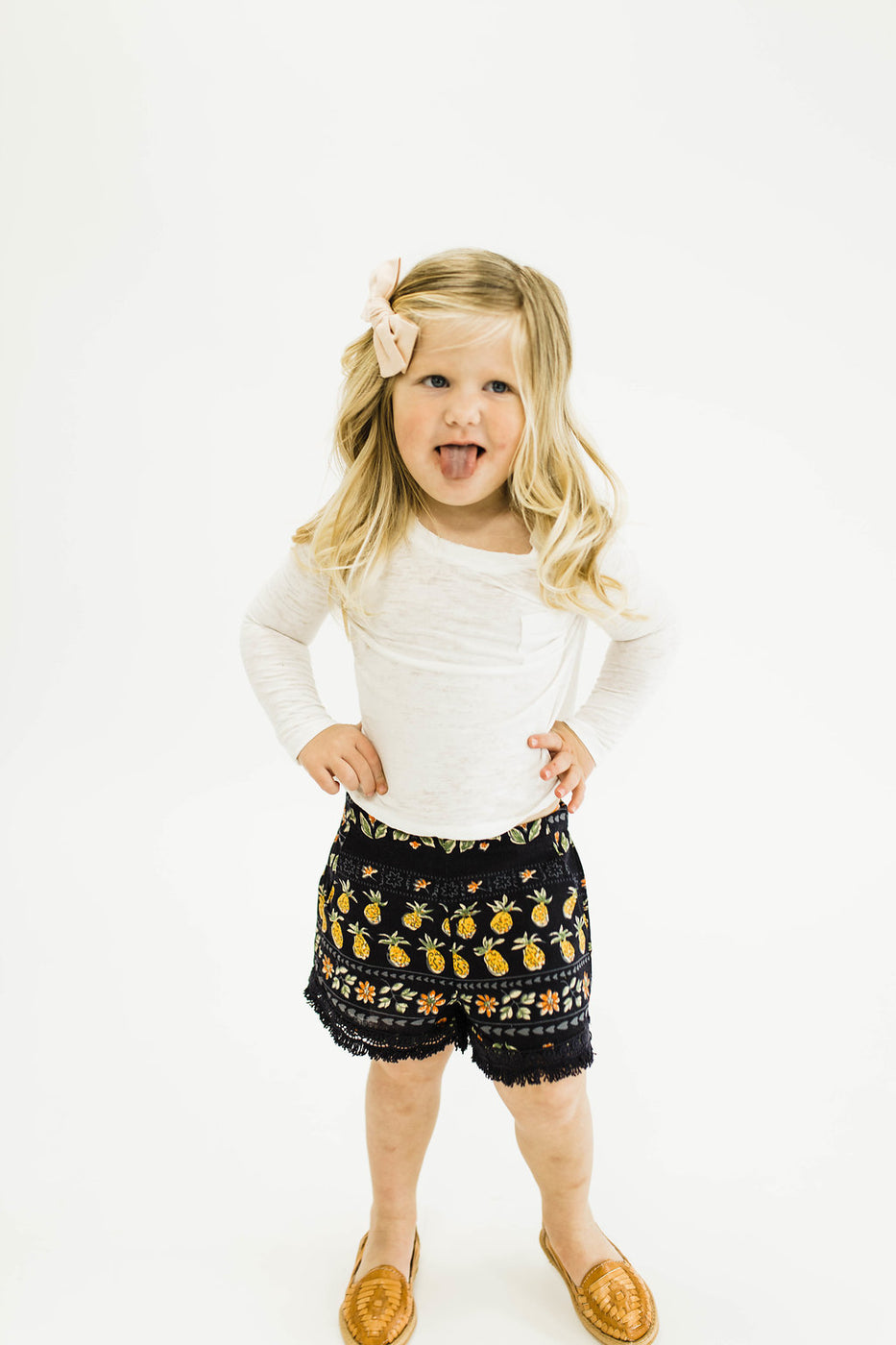 Carmen Pineapple Shorts | ROOLEE Kids