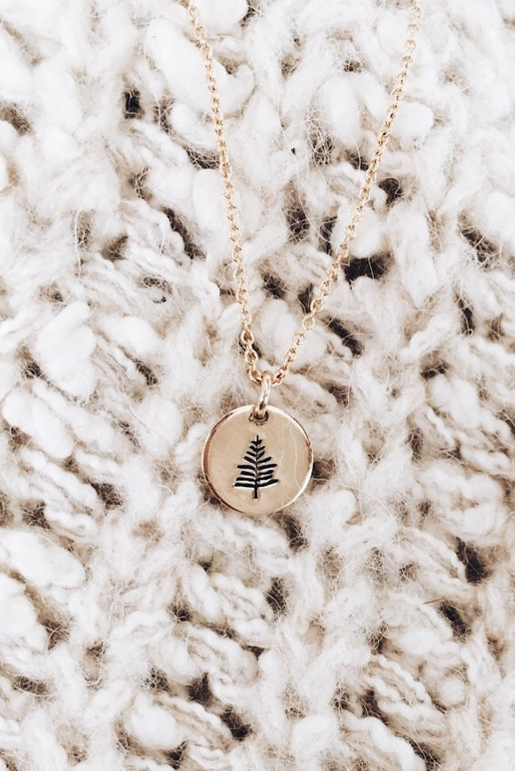 Evergreen Tree Minimalist Necklace | ROOLEE