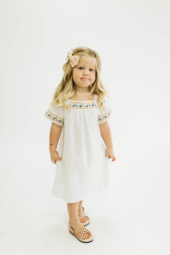 Flores Embroidered Dress | ROOLEE