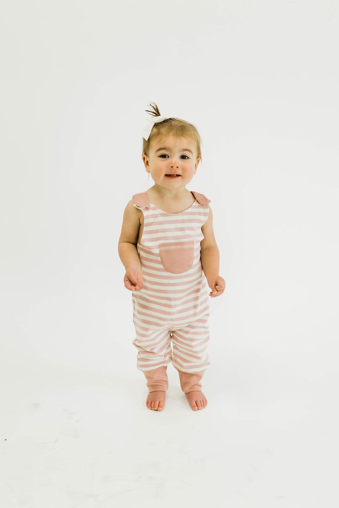 London Harem Romper in Mauve | ROOLEE Kids