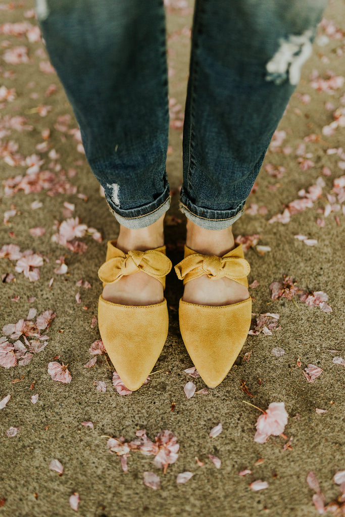 Buttercup Detail Flats in Sunflower | ROOLEE