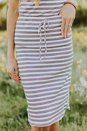 Lillian Stripe Skirt | ROOLEE