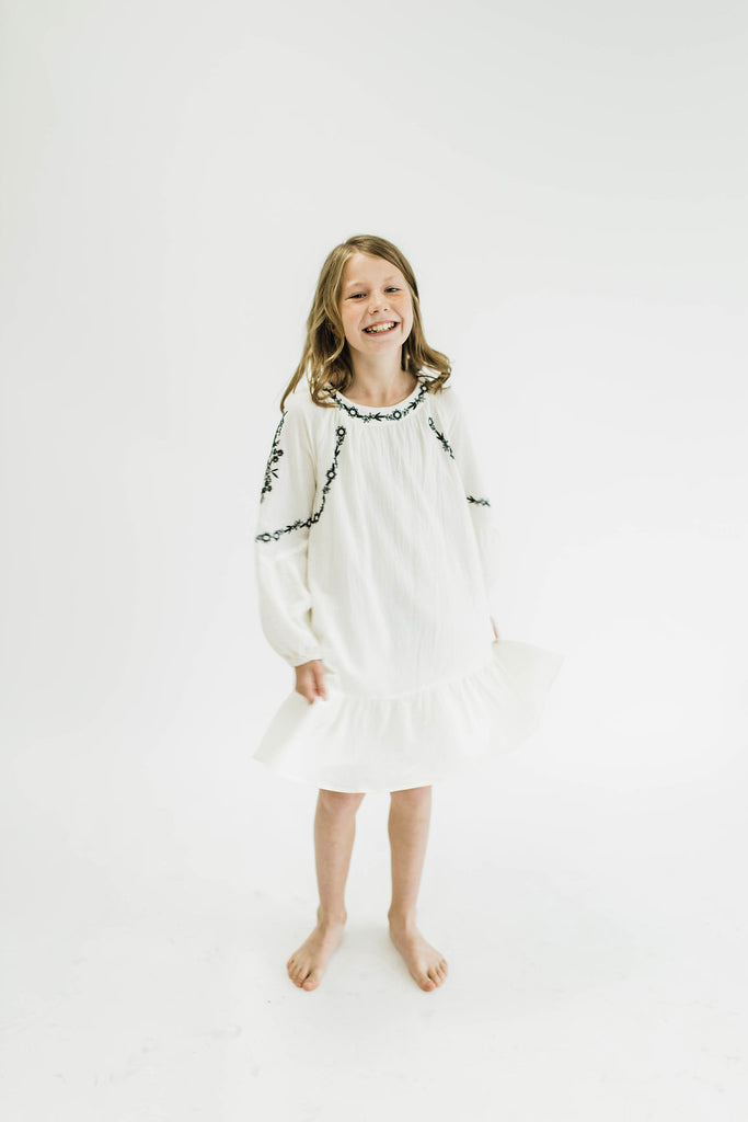 Melody Embroidered Dress | ROOLEE Kids