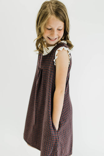 Houndstooth Sleeveless Jumper Dress | ROOLEE Kids