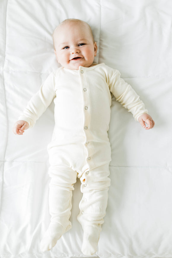 Each New Day Coverall in Beige | ROOLEE Kids