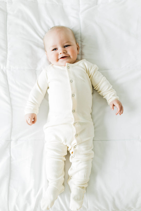 Off White Onesie For Babies | ROOLEE Kids
