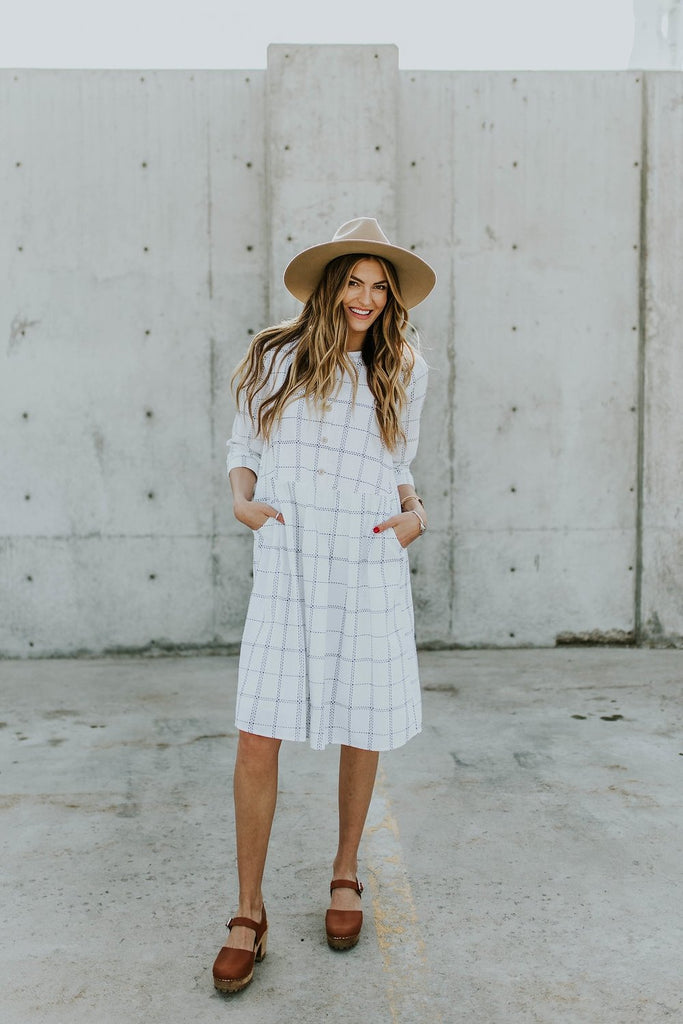 Safe Haven Plaid Dress in Cottontail