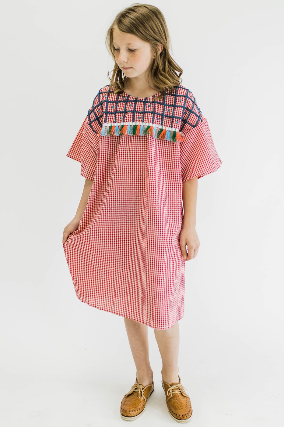 Little Artist Gingham Dress | ROOLEE Kids