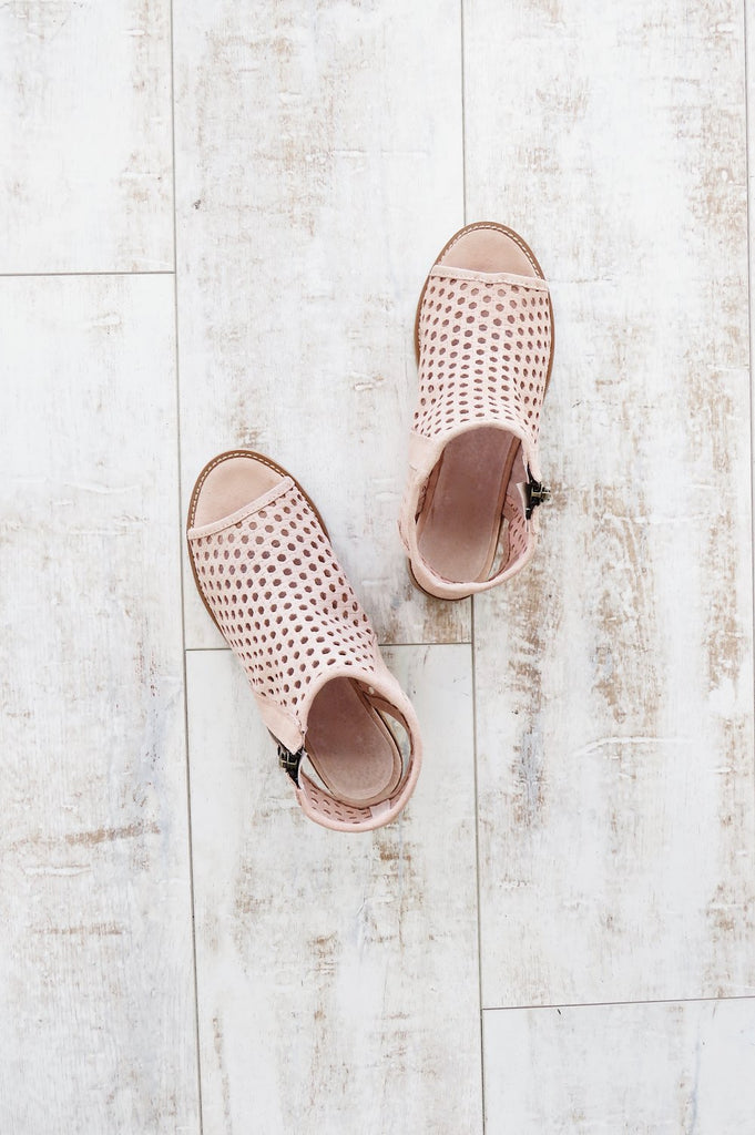 Krissy Booties in Blush