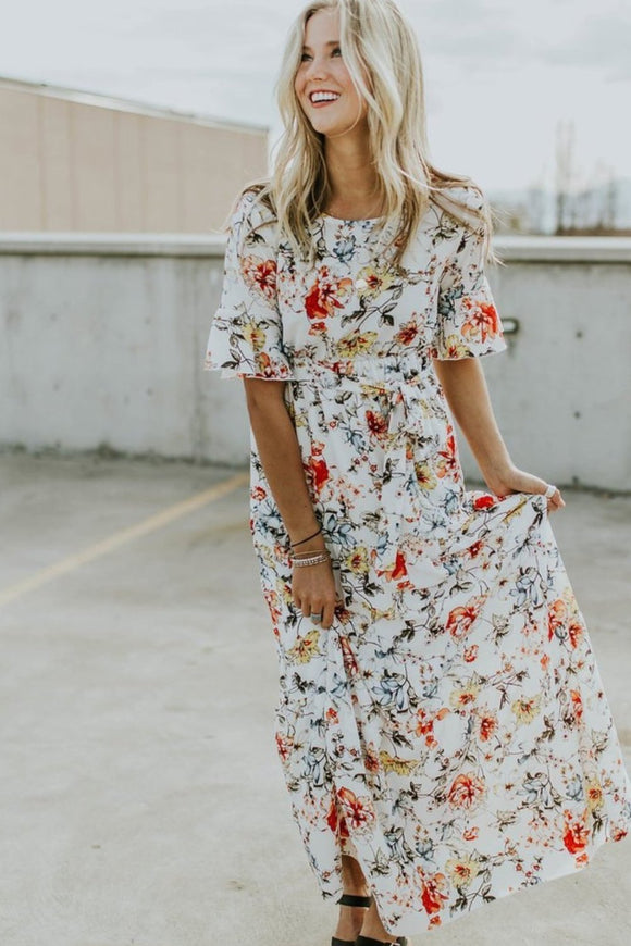 In Full Bloom Floral Maxi