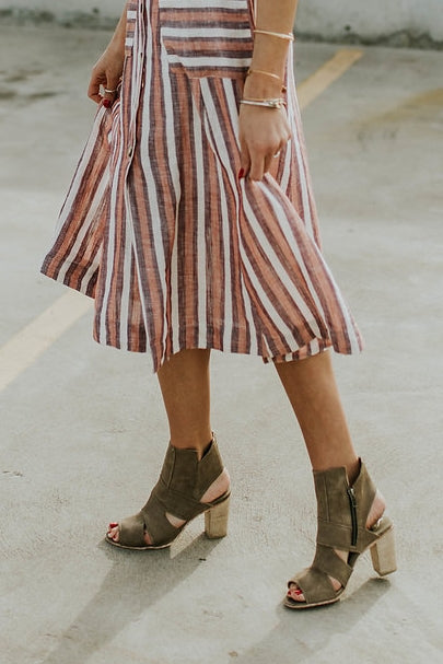 Free People Effie Block Heel in Grey